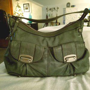 B Makowsky Blue Leather Hobo Bag VINTAGE